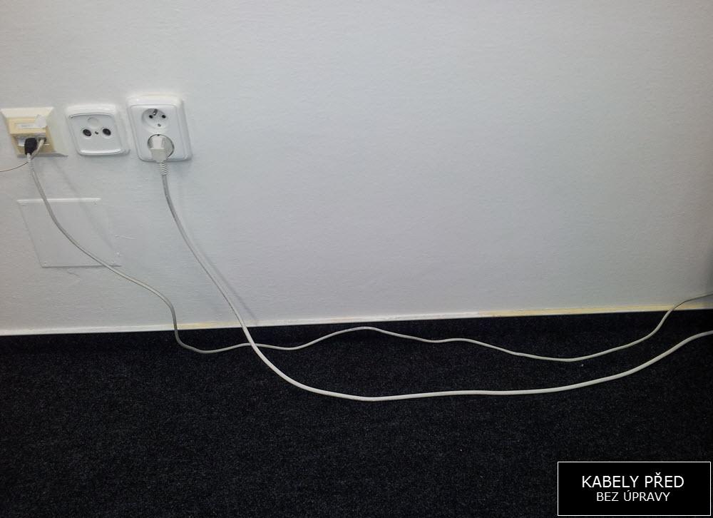 Foto: Kabely před úpravou | Organizace kabeláže