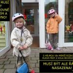 Helma na kolo | Ochrana hlavy | Dětská helma | Nedostatečné upevnění