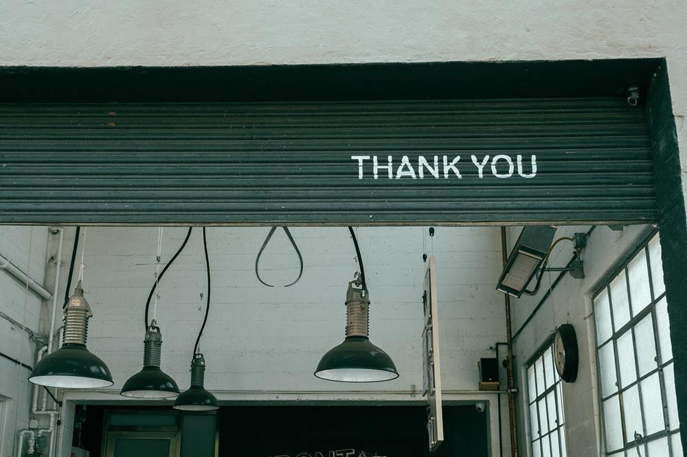 Poděkování za Vaši podporu
