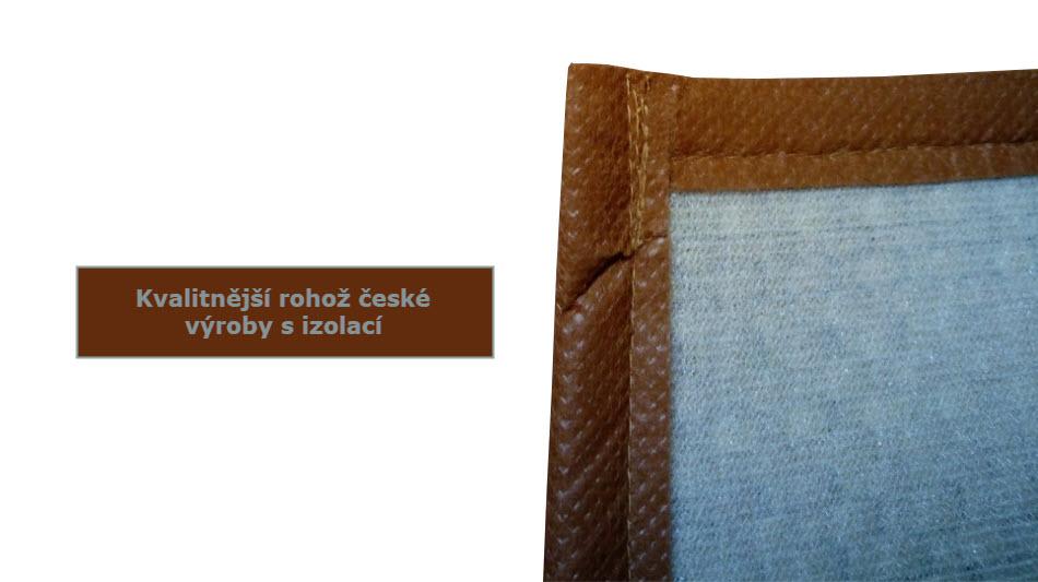 Kvalitnější rohož na zeď české výroby (odizolovaná s molitanem)