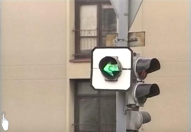 Signál pro opuštění křižovatky | Zelená šipka