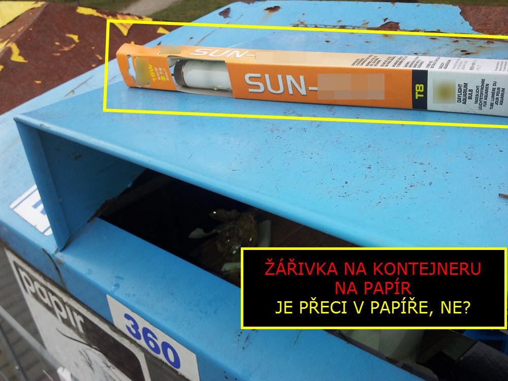 Třídění odpadu v ČR | Foto: Popisek na fotografii je s ironickou otázkou